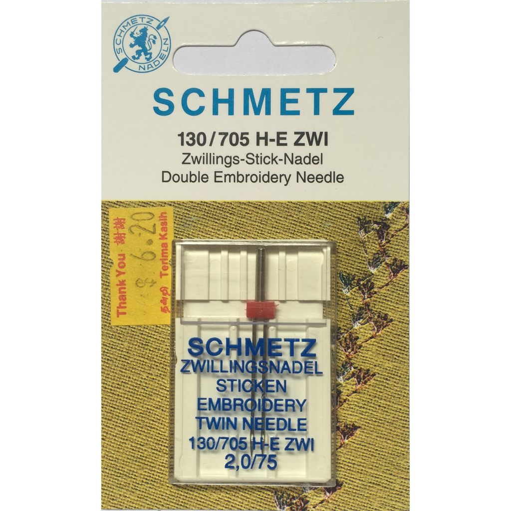 Schmetz Embroidery Twin Needles
