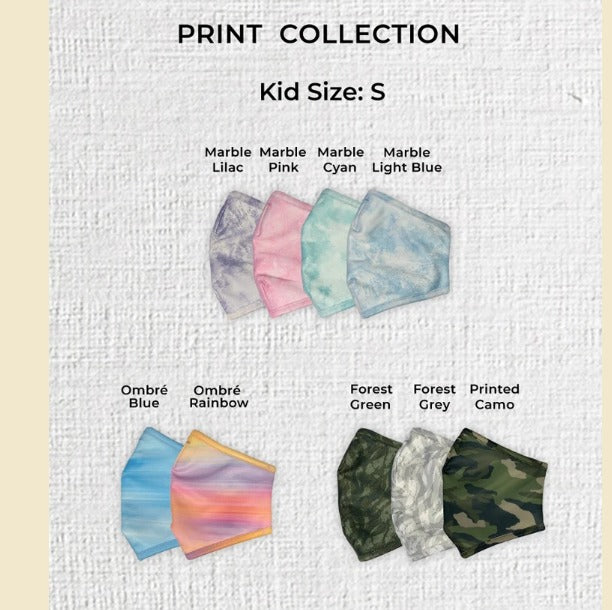 Print Collection Face Mask Reusable, Made In Singapore with Filtration material by A*STAR Innovations. Safe and Comfortable | Forever Family  FF
