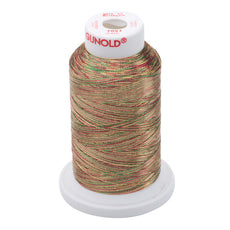 Gunold Sewing & Embroidery Threads - METY 5/2 - 7027 Metallic Multi Colours Cranberry / Gold / Pine Green