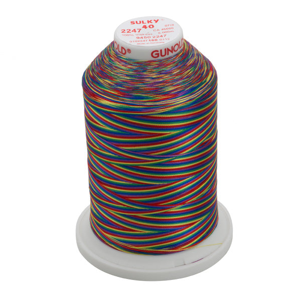 Gunold Multi Colour ( Rainbow ) Embroidery Thread - SULKY 40  - 2247