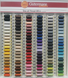 Gutermann Creativ Premium Quality 100% Sew - Sew all threads in complete set of 120 colours, including display Cabinet. Made in Germany.