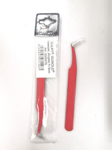 Gunold Red Pterosaur Tweezer Bent Nose Sharp Tip [High Quality]