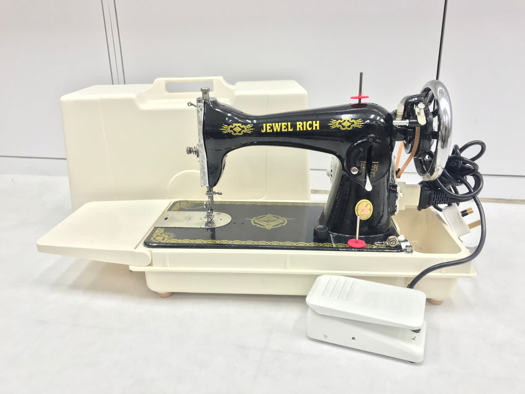 Jewel Rich Traditional Sewing Machine  - In Portable setup with Motor drive