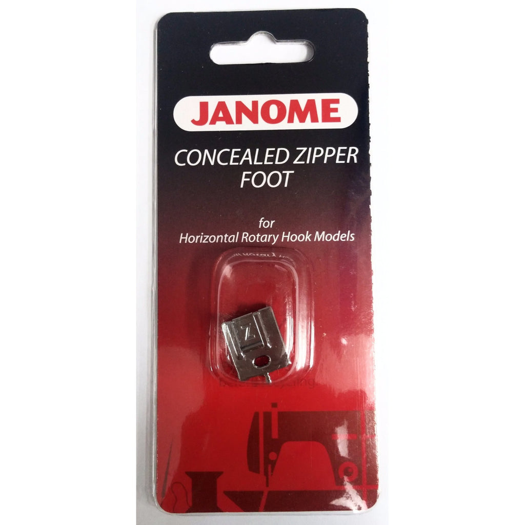 Concealed Zipper 'Z' Foot (Janome Original) / 7mm Shank