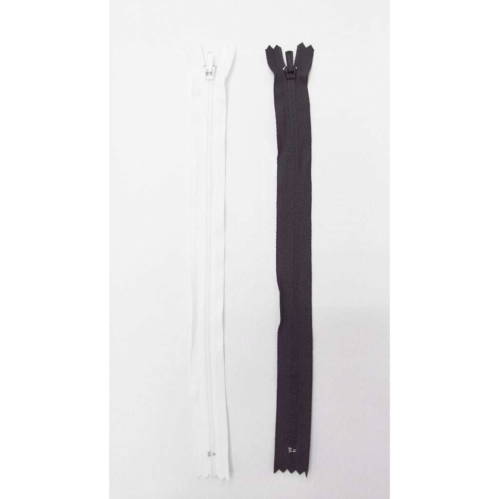 Normal Zipper  (Black/White) Brand YKK