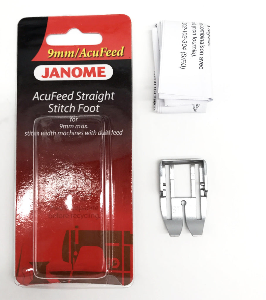 Janome Acufeed Straight Stitch Foot - 9mm (Original)