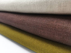 Classic Linen Fabrics. Medium weight Canvas Hand Feel, 60 inches width.
