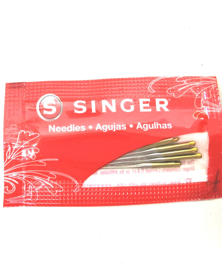 Singer Brand Sewing Machine Needle (Gold) Original