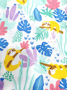 Collection 7 Cotton Fabric Printed 100% cotton, Medium weight, very comfortable on skin, good for Face Mask, Craft works, Kids Wear,  1m packing.