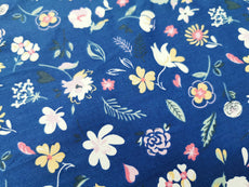 Collection 9 Floral Cotton Fabric Printed 100% cotton, Medium weight, very comfortable on skin, good for Face Mask, Craft works, Kids Wear,  1m packing.