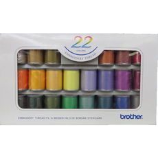 Brother Embroidery Threads - 22 Colors