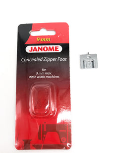 Janome Concealed Zipper Foot - 9mm (Original)