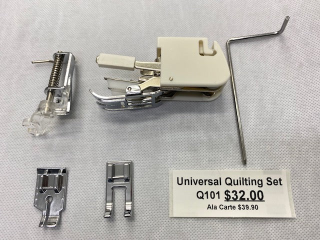Universal Quilting set, applicable BROTHER, JUKI, SINGER, TOYOTA and VIKING sewing machines. QC101