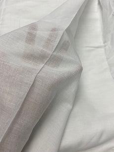 Cotton Fabric WHITE Colour, 100% cotton, very comfortable on skin, perfect for Lining or Inner construction. 42 inch width. Muslin