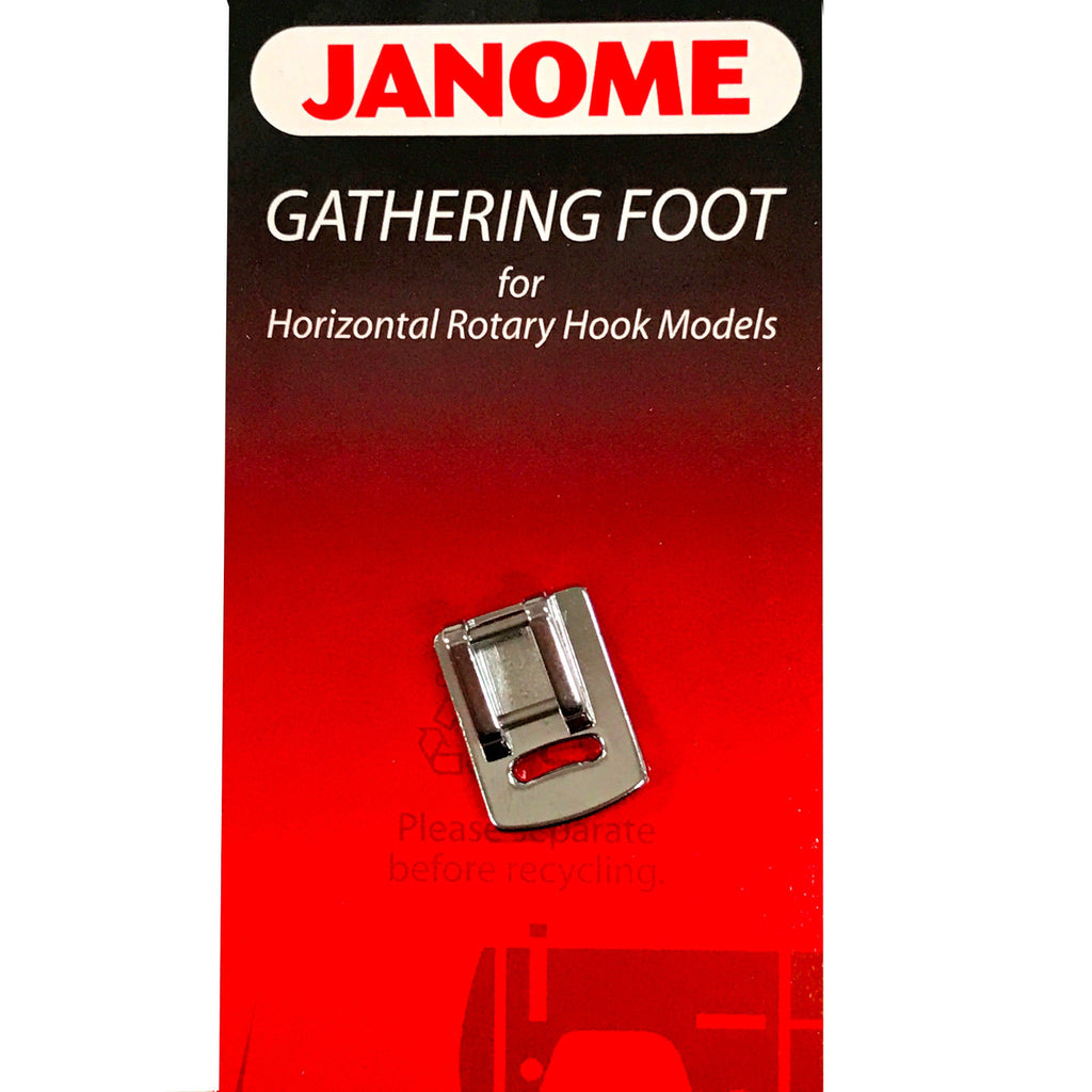 Janome Gathering Foot (Original) - Foot for Horizontal Rotary Hook Models (Part No.: 200315007)