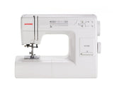 Janome Sewing Machine HD3000 - Solid Aluminium body frame, stronger, silent and powerful fabric feeding motion. Concealed spool holder, an added advantage for this Heavy Duty Sewing Machine. Online Offer