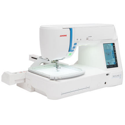 Janome Skyline S9 - High-end 2-in-1 Sewing Machine + Embroidery