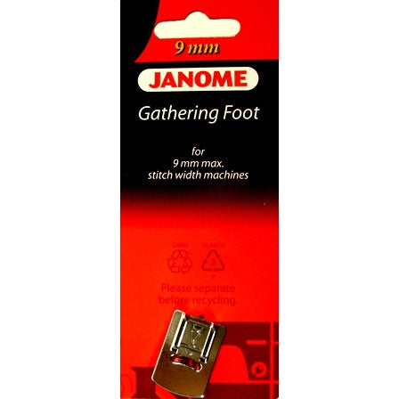 Janome Gathering Foot for 9mm Max. Stitch Width Machines (Janome Original)(Part No.: 202096005)