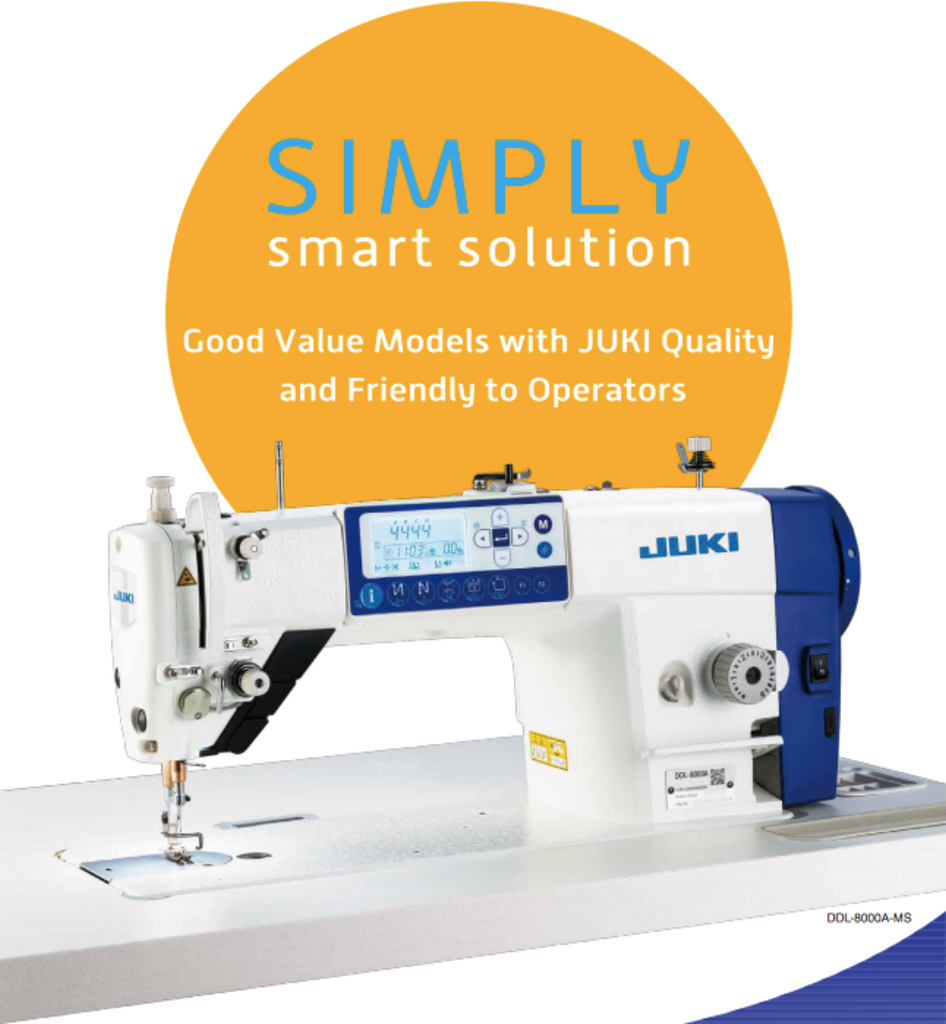 Juki sewing machine DDL 8000AS Series Direct Drive, High Speed, Lockstitch Machine, complete set + wheel + 1 year warranty + on-site demo