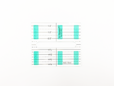 Le Summit Liner Ruler - Quilting Ruler (DS-KF-2201) - Size 88.9 x 101.6 mm