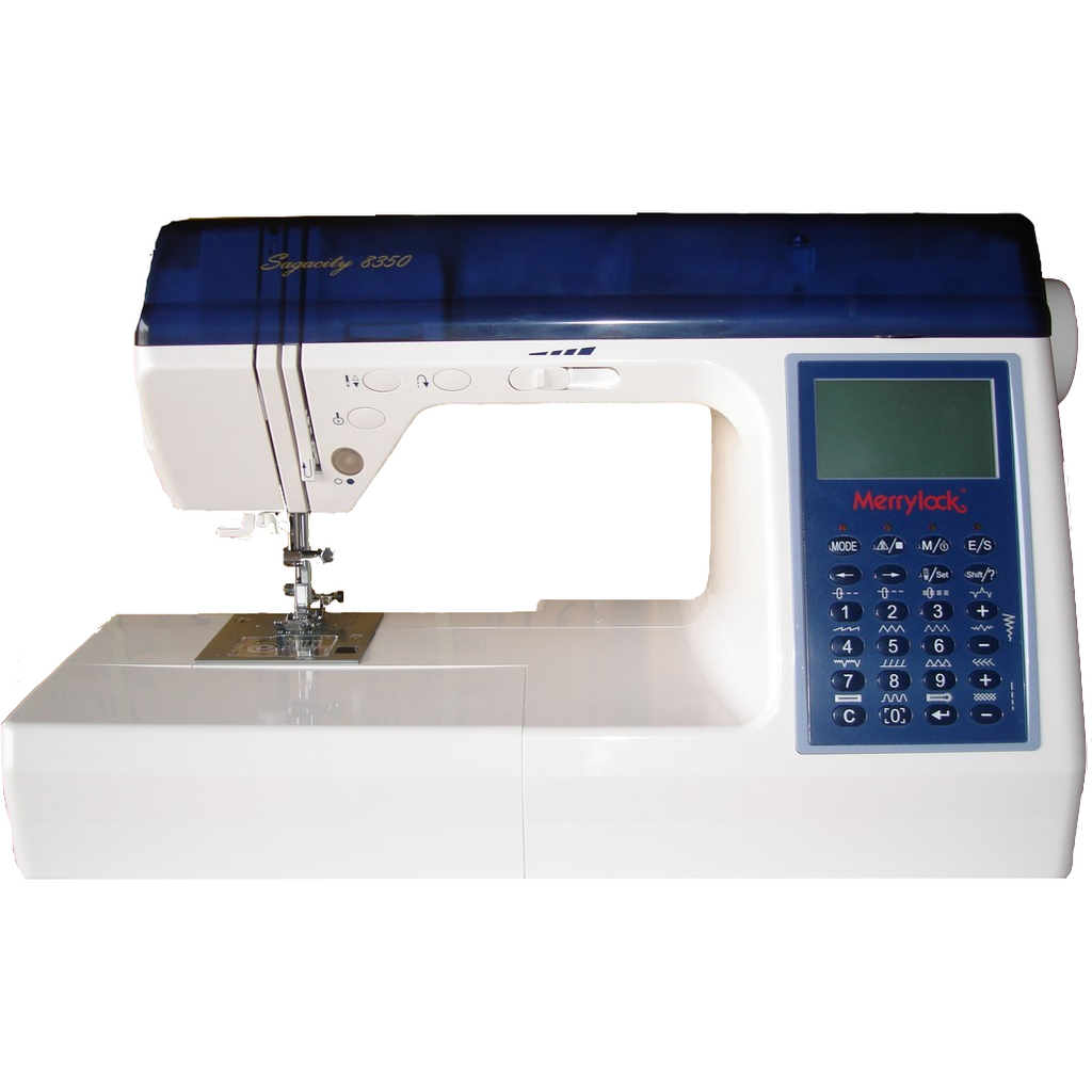 Heavy Duty Sewing Machine, Equipped with Alphabets and numerical stitching, From Merrylock 8300 & 8350.