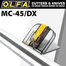 Olfa MC45 197B Safety Mat Cutter 45 Degrees Cutting Guide Ruler Made in Japan