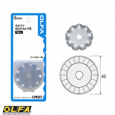 Olfa RB45W Disc Wave Blade (For 45mm Rotary Cutters) Tub/1Pc