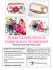 Purse Clasps Pouch Embroidery Workshop | Visit www.sewingguru.com