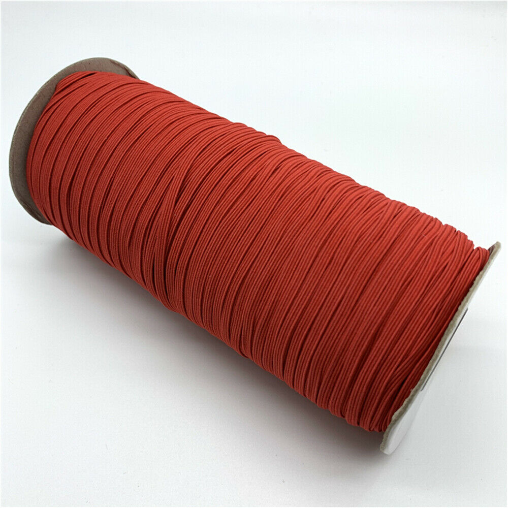 Soft Elastic band well suited for Face Mask, 3mm wide 1mm thickness, Flat type. Different Colours Available