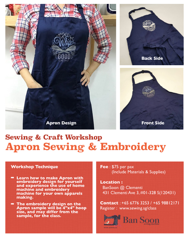 Apron Sewing & Embroidery Workshop