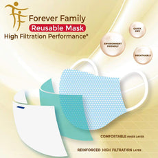 Face Mask Reusable, Made In Singapore with Filtration material by A*STAR Innovations. Safe and Comfortable | Forever Family  FF