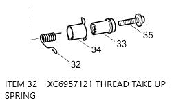 XC6957121 / THREAD TAKE UP SPRING