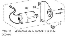 XE3180101 / MAIN MOTOR SUB ASSY: CCOM-V (220V - 240V) for Brother NV950