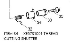 XE5731001  /  THREAD CUTTING SHUTTER