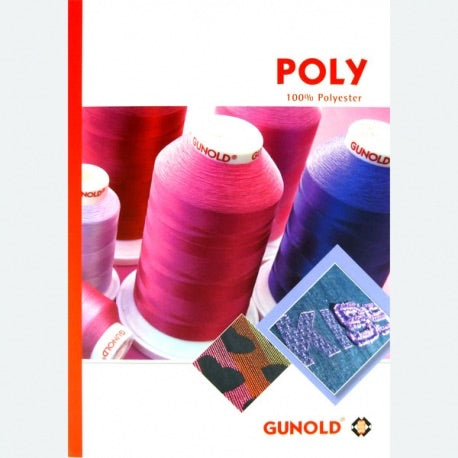 Gunold Embroidery Threads - Color Swatches Card (Poly, Sulky or Mety)
