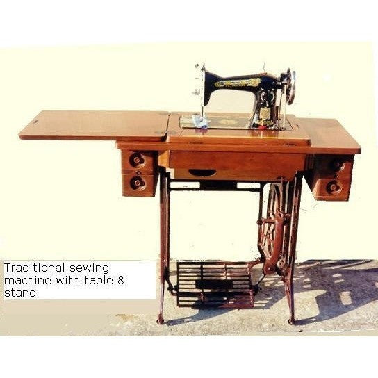 Standard Traditional Sewing Machine - Treadle with Table & Stand (OR) Electrical Portable Design