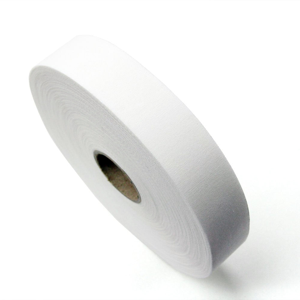 "Waist Band Stiffener 1"" & 1.5"" - White, with Fusible Glue"