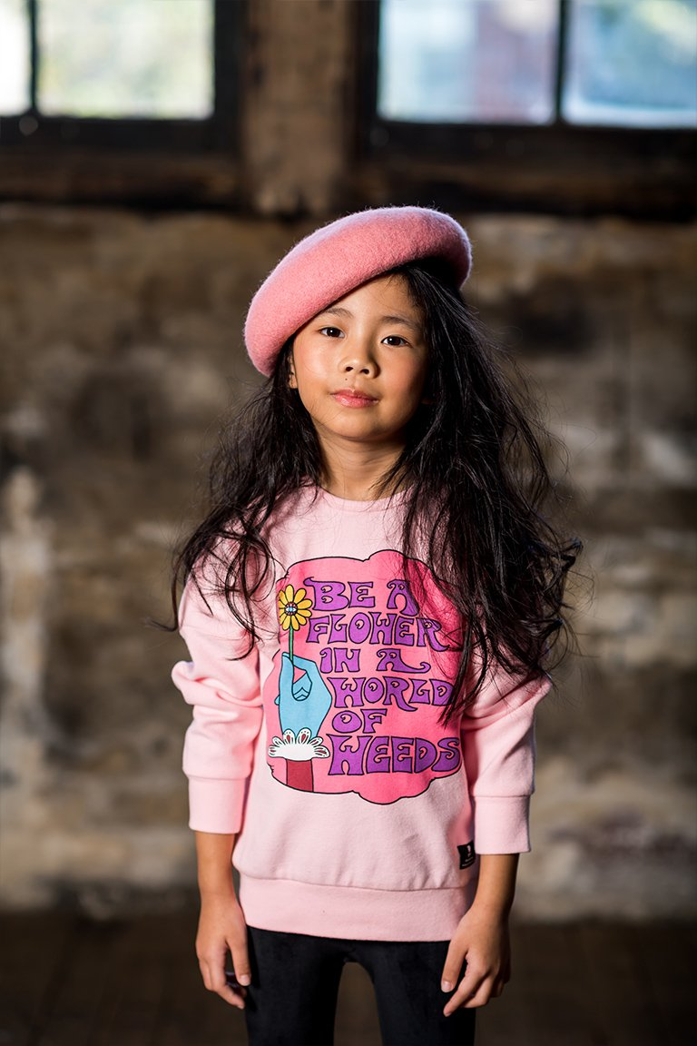 Rock Your Kid - Be a Flower L/S T-Shirt - Pink