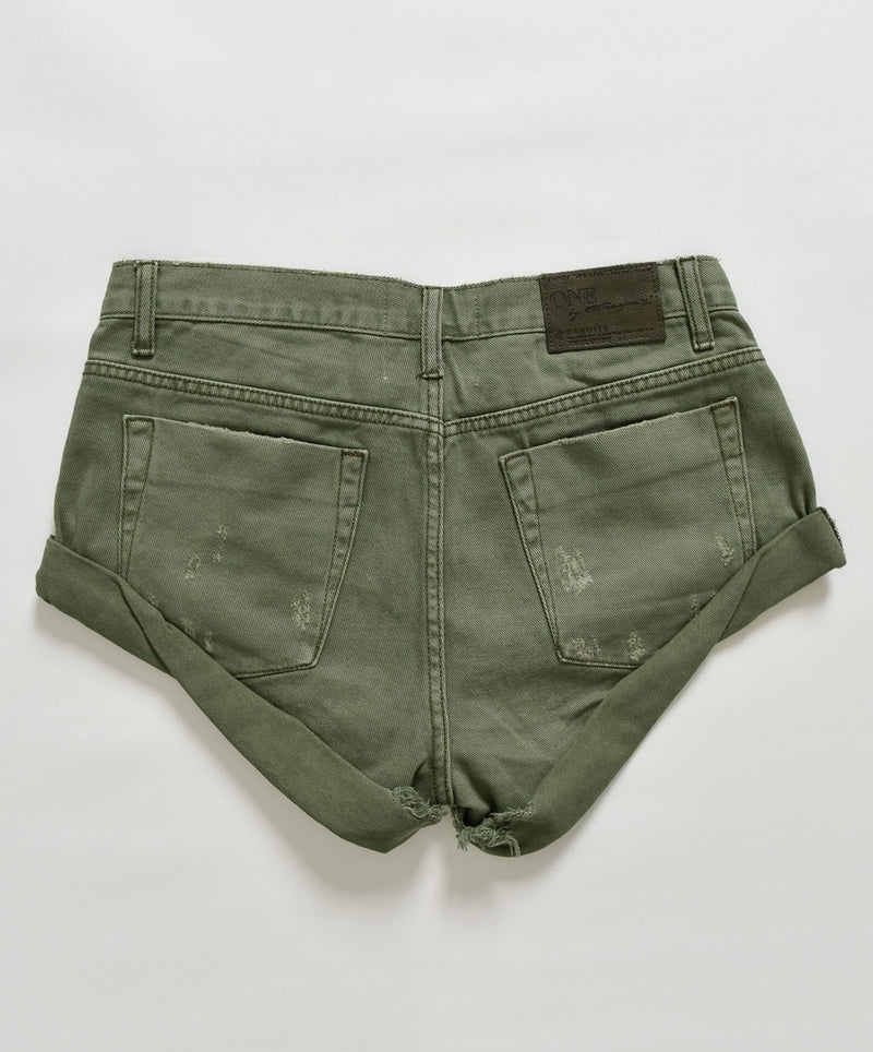 ONETEASPOON - Bandits Denim Short - Super Khaki