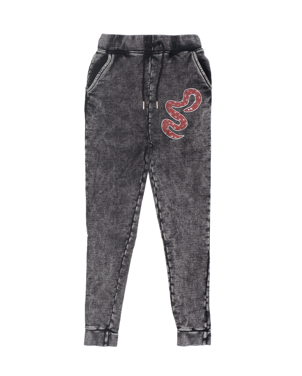 Band of Boys - Bandits - Red Snake Skinny Trackie - Vintage Black