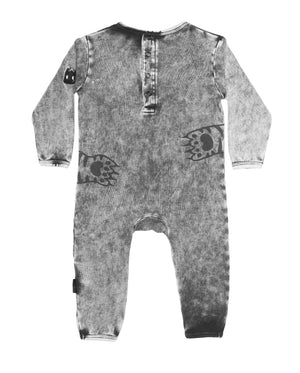 Band of Boys - Organic Baby - Baby Paws Romper - Vintage Black