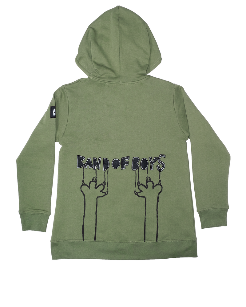 Band of Boys - Band of Boys Stitch Zip Hood Crew - Green