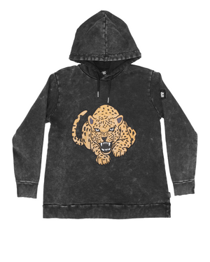 Band of Boys - Fierce Leopard A-line Hood Crew - Vintage Black