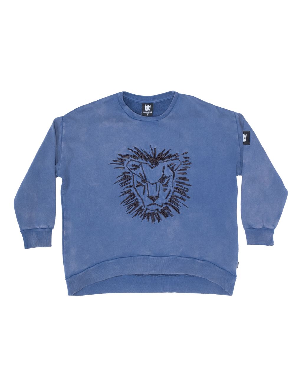 Band of Boys - Lion Mane Oversized Crew - Vintage Blue