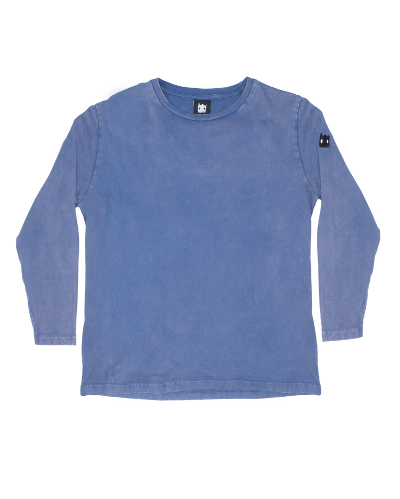 Band of Boys - Band of Claws L/Sleeved Oversized Tee - Vintage Blue