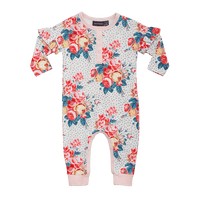 Rock Your Baby - L/Sleeve Playsuit - Antique Chintz