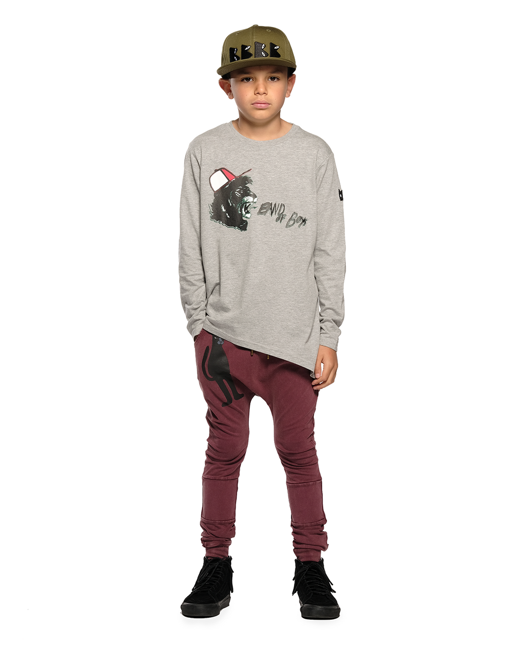 Band of Boys - Standing Panther Harem Trackie - Vintage Red