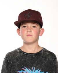 Band of Boys - Snake on Snake Hip Hop Cap - Maroon - OSFA