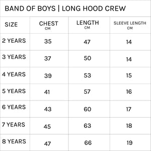 Band of Boys - Furry Snake Long Hood Crew - Black
