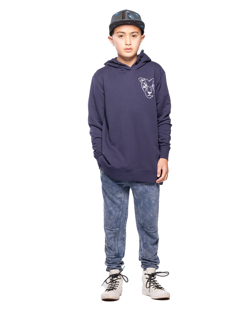 Band of Boys - Bandits - Panel Trackie - Vintage Blue